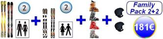 Complete Family Pack Blau 2+2